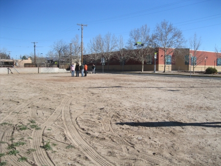 Workshop participants consider the Garden Park site.