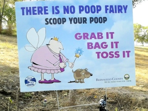 Poster poop fairy golf course
